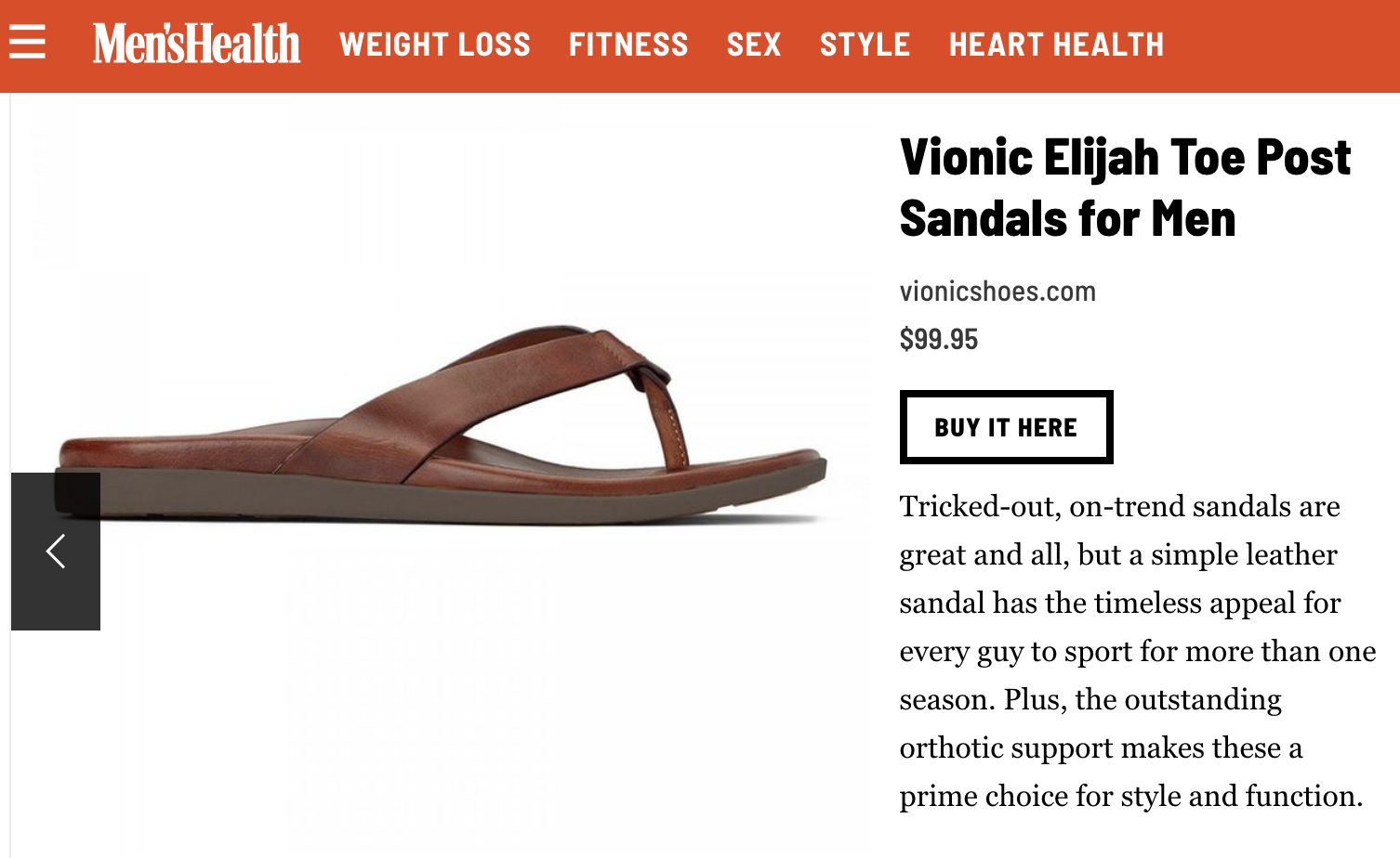 21e95aeea07847 Our Elijah sandal is one You ll be Proud to Show Off This Summer according  to Men s Health